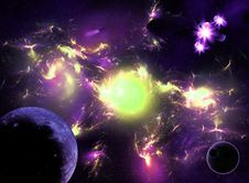 Free Colorful Space Galaxy Stock Photography - 27720522