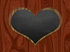 Heart Shaped Chalkboard Stock Images