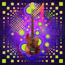 Free Music Background With Guitar Stock Photos - 27720573