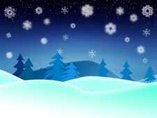 Free Winter Night Illustration Stock Photos - 27720623
