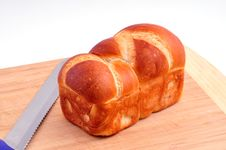 Free Loaf Of White Bread On The Board Stock Photos - 27722723