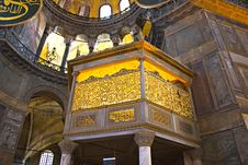 Free Interior Of The Hagia Sophia Stock Photo - 27723480