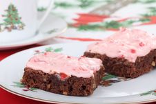 Free Two Christmas Brownies Royalty Free Stock Image - 27723786