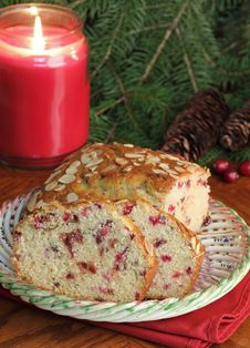 Free Holiday Cranberry Bread Stock Images - 27724004