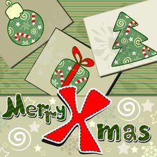Free Scrapbook Styled Christmas Card Stock Photos - 27725043