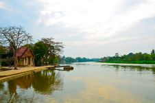 Riverside Of Thailand Rural Area Royalty Free Stock Photography