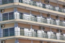 Free Urban Balconies With Air-conditions Royalty Free Stock Photo - 27727075