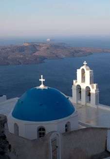 Free Church Of The Island Of Santorini Stock Images - 27729144