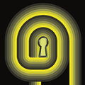Free Yellow Swirl Way To Door Keyhole Concept Royalty Free Stock Photography - 27731537