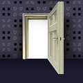 Free Open Center Door With Poker Pattern Royalty Free Stock Images - 27731569