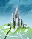 Free Sustainable Island City Development At Winter Stock Photo - 27731640