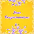 Free Abstract Ornate Flower Greeting Card Stock Image - 27732011