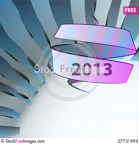 Free Blue Wavy Geometry New Year Wish Royalty Free Stock Photo - 27731995