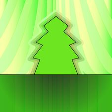 Free Classic Shape Tree On Green Curtain Royalty Free Stock Photo - 27731925