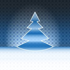 Free Cool Christmas Tree Blue Spotted Background Royalty Free Stock Images - 27731939