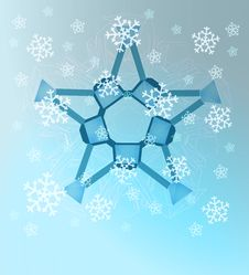 Free Abstract Blue Winter Symmetry With Snow Royalty Free Stock Photos - 27732078