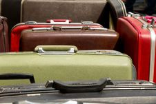 Free Old Vintage Bag Suitcases Stock Images - 27733194