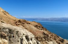 Views Of The Dead Sea Stock Photography