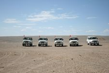 Free Jeeps In The Gobi Desert, Dunhuang China Royalty Free Stock Image - 27734906
