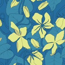 Free Seamless Floral Pattern_moonflower Royalty Free Stock Photo - 27736885