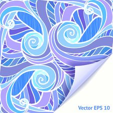 Free Blue And Violet Waves Background Stock Photos - 27737313