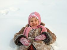 Free Girl In Warm Clothes Outdoors Royalty Free Stock Image - 27738746