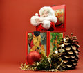 Free Vintage Christmas Santa Jack In The Box Decoration Stock Photo - 27745180