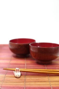 Free Chopsticks In Asian Set Table Stock Photos - 27740293