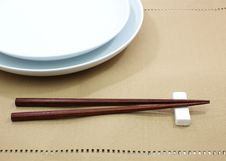 Free Chopsticks In Asian Set Table Stock Photography - 27740782