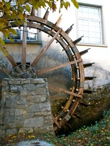 Wooden Mill Wheel Royalty Free Stock Photos
