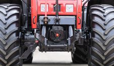 Modern Tractor Close-Up Royalty Free Stock Photo