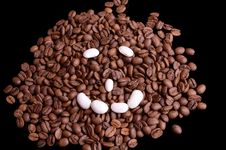 Free Haricot And Coffe Beans Stock Photo - 27747570