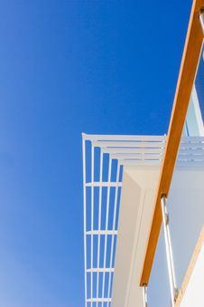 Free Modern Style Villa: Louvers, Handrail And Blue Sky Stock Image - 27748271