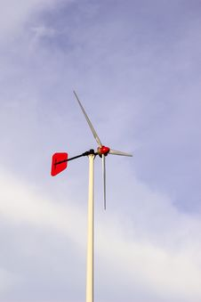 Free Wind Turbine Located In School Stock Photography - 27748402