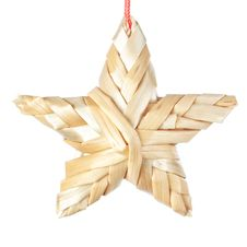 Free Straw Christmas Star. Stock Photography - 27749322