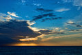 Free Panorama Of A Sunset On A Calm Sea Stock Photography - 27759122