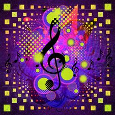 Music Background With Notes Royalty Free Stock Photo