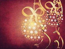 Free Snowflake Balls Grunge Background Royalty Free Stock Image - 27751246