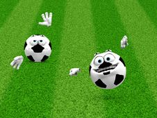 Free Two Soccer Ball Smilies Royalty Free Stock Image - 27751266