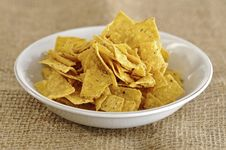 Free Nachos In The Bowl Stock Images - 27751294