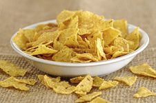 Free Nachos In The Bowl Royalty Free Stock Image - 27751306