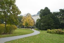 Free Path In The Autumn Park In The Center Of Vienna &x28;A Royalty Free Stock Images - 27753599