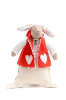 Free Handmade Toy Bunny Stock Photos - 27756103