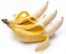 Free Bananas Isolated On White Stock Photo - 27756470