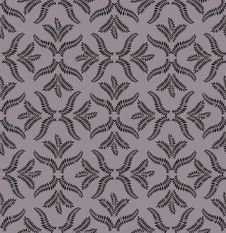 Leaves Seamless Retro Pattern On Brown Background