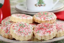 Free Shortbread Christmas Cookies Closeup Stock Photos - 27758143