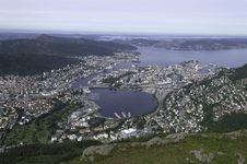 Bergen Panorama Royalty Free Stock Image