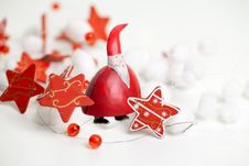 Santa Claus And Stars Ribbon Stock Image
