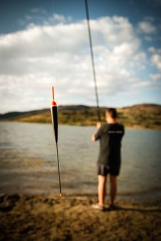Free Lakeside Fishing Royalty Free Stock Image - 27759746