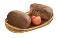 Free Two Loaves Of Bread And An Apple Stock Image - 27760041